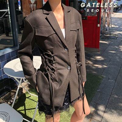 【GATELESS】コルセットジャケット(2color)