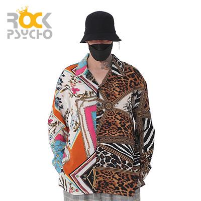 【ROCK PSYCHO】ハーフパターンフレックスシャツ