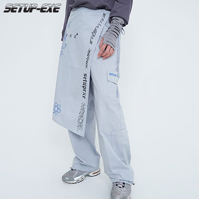 【SETUP-EXE】Universe wrap set Pants - grey