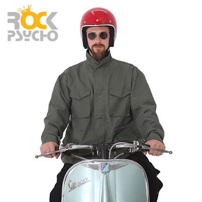 【ROCK PSYCHO】M65 ワイドフィールドジャケット -khaki