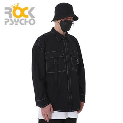 【ROCK PSYCHO】バックルロングスリーブシャツ