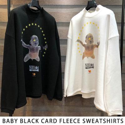 [UNISEX] ベビーブラックカード起毛スウェットシャツ (2color)