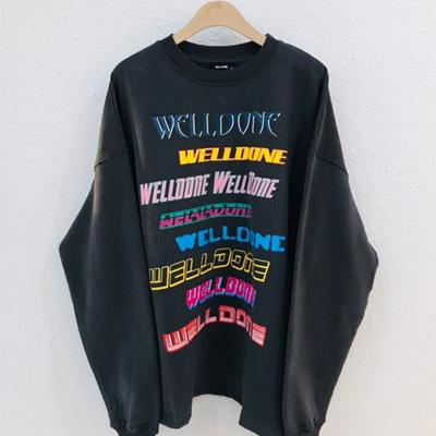 [UNISEX] マルチロゴレタリングスウェットシャツ (2color)