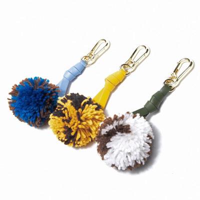 毛糸タイストラップチャームキーリング (3color)