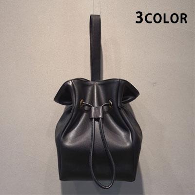 シンプルベーシックバケットトートバッグ/ショルダーバッグ(3color)