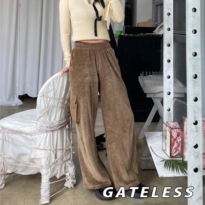 【GATELESS】ベロアワイドパンツ (2color)