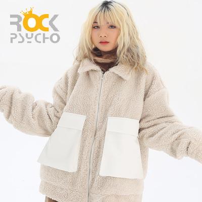 【ROCK PSYCHO】 ボアファーカーゴジャケット -ivory
