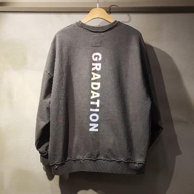 [UNISEX] ビンテージグラデーションオーバーサイズスウェットシャツ (2color)