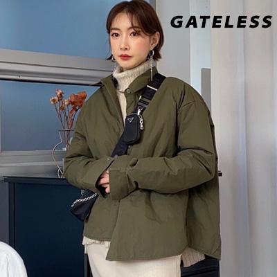 【GATELESS】シンプルオーバーサイズ中綿シャツ(2color)