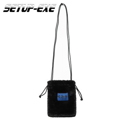 【SETUP-EXE】FUR MINI CROSS BAG - BLACK