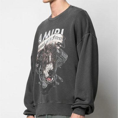 [UNISEX] アングリーピットブルダメージスウェットシャツ