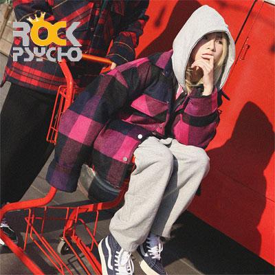 【ROCK PSYCHO】ウールチェックジャケット -pink
