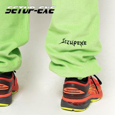 【SETUP-EXE】Corduroy jogger Pt - neon green