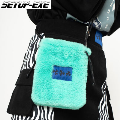 【SETUP-EXE】Fur mini cross Bag - mint