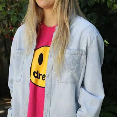 [UNISEX] ポケットスマイルポイントデニムシャツ