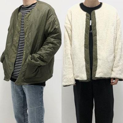[UNISEX] リバーシブルボアファージャケット