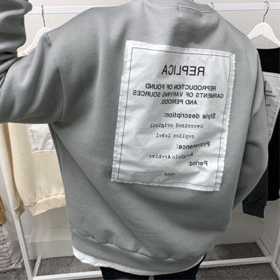 [裏起毛] [UNISEX] 後ろビッグパッチスウェットシャツ (4color)