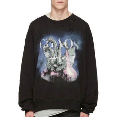 [UNISEX] カオスシティドラゴンダメージスウェットシャツ