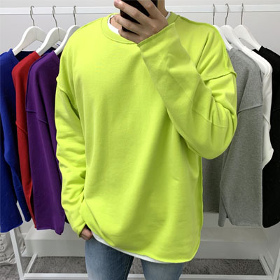 [UNISEX] オーバーフィットシンプルヴィンテージスウェットシャツ(7color)
