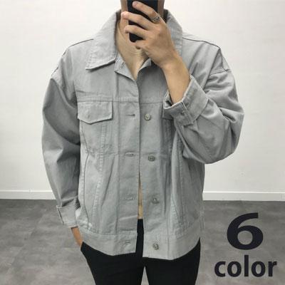 [UNISEX] オーバーサイズコットントラッカージャケット (6color)