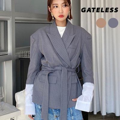 【GATELESS】シャツスリーブレイヤードジャケット (2color)