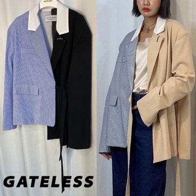 【GATELESS】ハーフシャツレイヤードジャケット (2color)