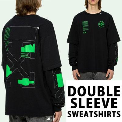 [UNISEX] シェイプダブルスリーブレイヤードスウェットシャツ (2color)