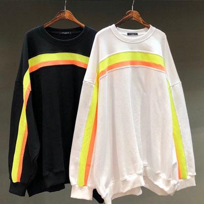 [UNISEX] ネオンラインスウェットシャツ (2color)