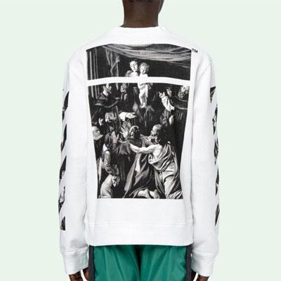 [UNISEX] カラバジオスクエアスウェットシャツ (2color)