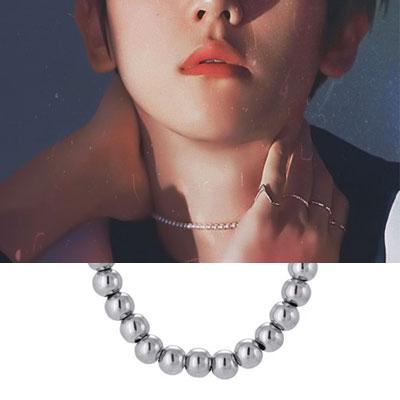 [UNISEX] EXO/Baek Hyun/ベクヒョン st. ボールラインブレスレット&ネックレス (2type)