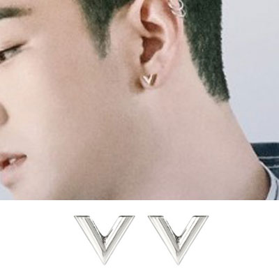 [UNISEXT] NUEST/Baekho/THE BOYZ st. ボリュームVピアス (2color)