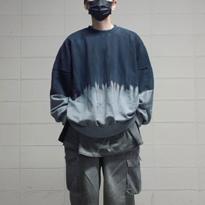 [UNISEX] タイダイグラデーションスウェットシャツ (2color)