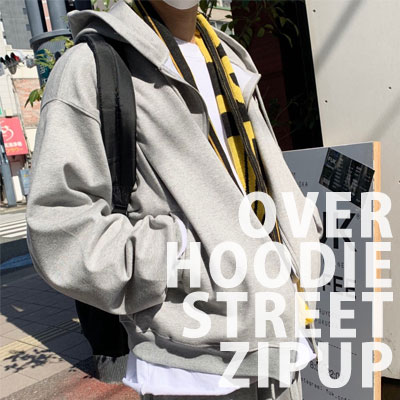 [UNISEX] オーバーフーディーストリートジップアップ (2color)