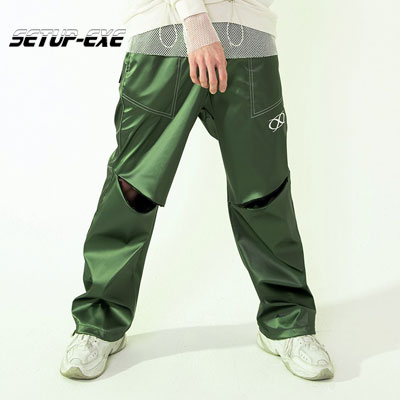【SETUP-EXE】Knee slit stitch Pt - green