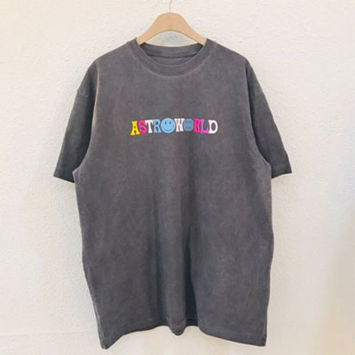 [UNISEX] レインボーロゴビンテージTシャツ/半袖
