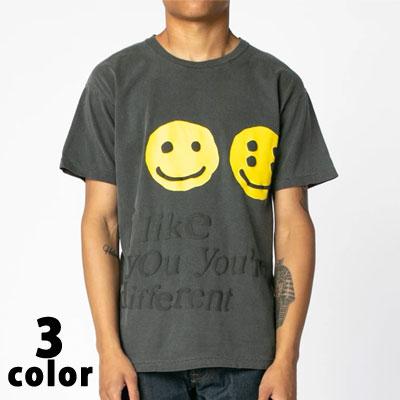 [UNISEX] ダブルスマイルフェイスTシャツ/半袖 (3color)