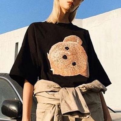[UNISEX] カットベアヘッドTシャツ/半袖