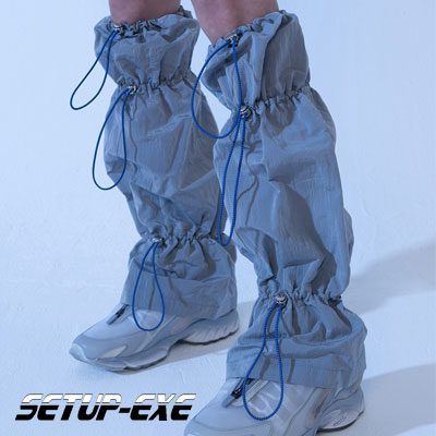 【SETUP-EXE】Shirring leg Warmer - grey