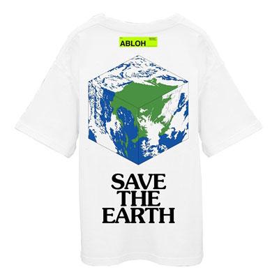 [UNISEX] セーブ地球ネオンタグTシャツ/半袖