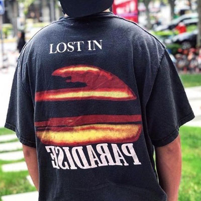 [UNISEX] ロストインパラダイスヴィンテージTシャツ/半袖