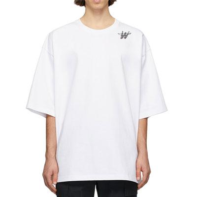 [UNISEX] シグニチャーWショルダーロゴTシャツ/半袖 (2color)