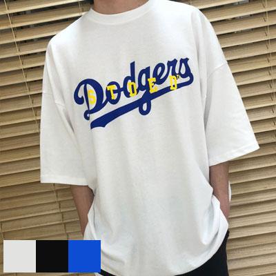 [UNISEX] ビッグLAダジョスロゴTシャツ/半袖 (3color)