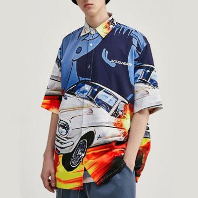 [UNISEX] オールプリンティングカーシャツ