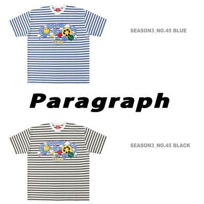 [UNISEX] ジャンポールスマイルストライプTシャツ/半袖 (2color)