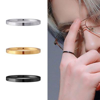 [UNISEX] THE BOYZ st. サージカルスチール シンプルリング/指輪 (3color)