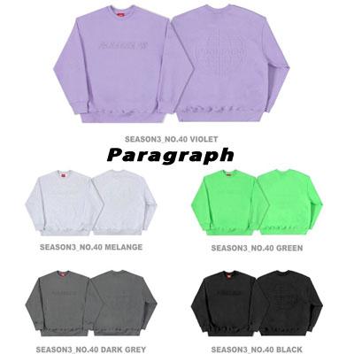 [Paragraph] エンボススウェットシャツ (5color)