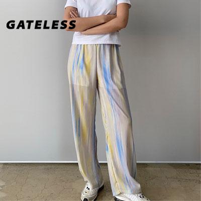 【GATELESS】 フローワイドパンツ (2color)