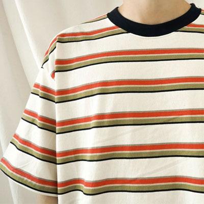 [UNISEX] コンボストライプTシャツ/半袖 (3color)