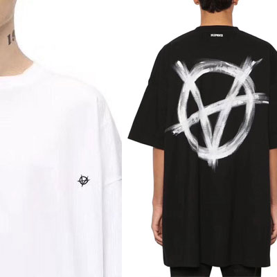 [UNISEX] A ペイントロゴTシャツ/半袖 (2color)
