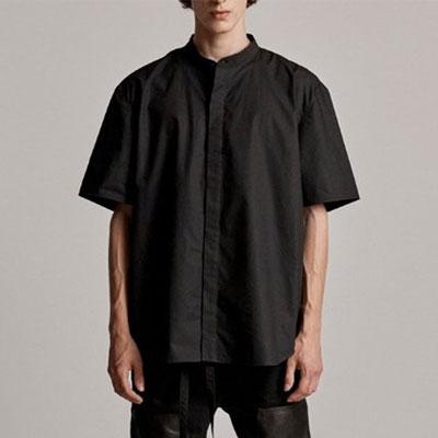 [UNISEX] ヘンリーネックショートスリーブシャツ